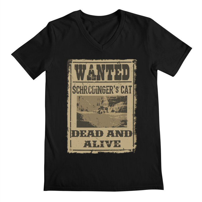 Dead And Alive Men's Regular V-Neck by John Lucke Designs