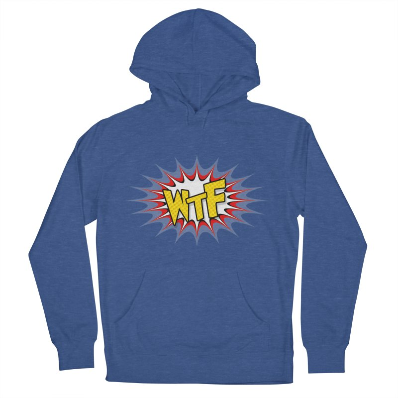 WTF (comic style) Men's French Terry Pullover Hoody by John Lucke Designs