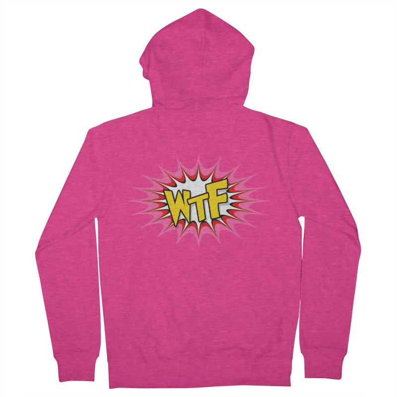 WTF (comic style) Women's Zip-Up Hoody by John Lucke Designs