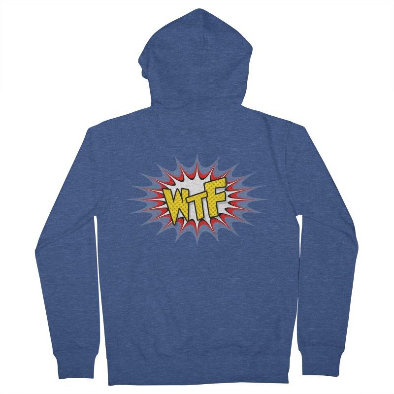 WTF (comic style) Men's Zip-Up Hoody by John Lucke Designs