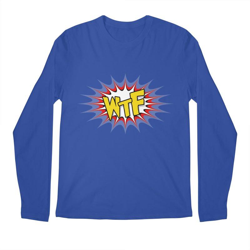 WTF (comic style) Men's Regular Longsleeve T-Shirt by John Lucke Designs