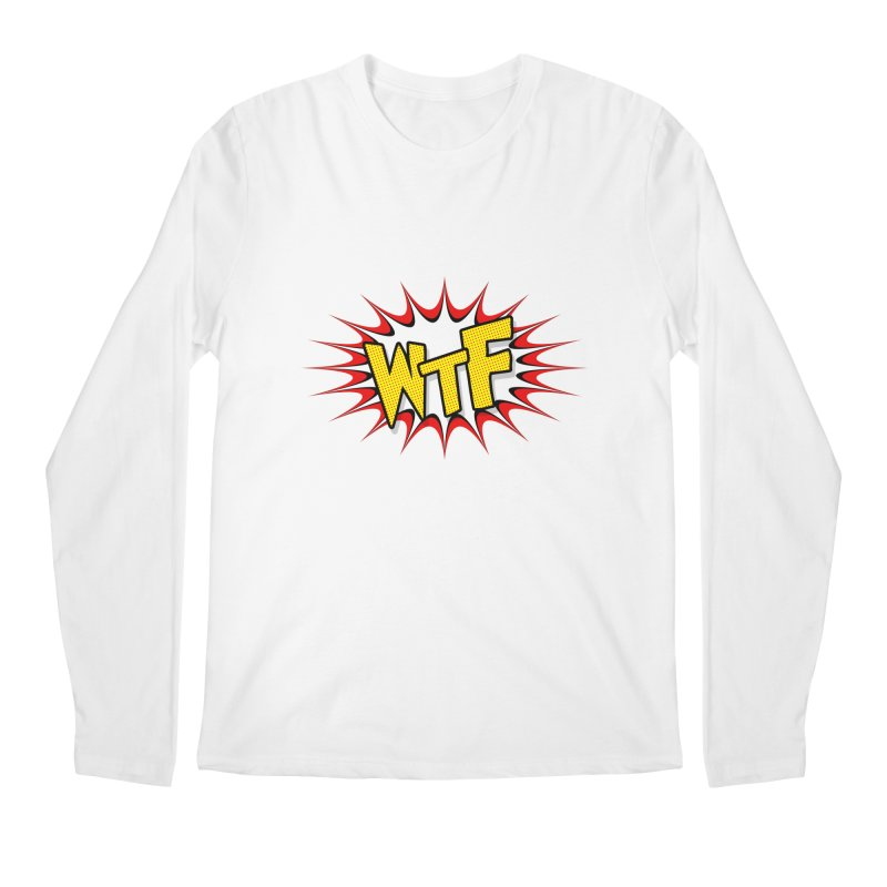 WTF (comic style) Men's Longsleeve T-Shirt by John Lucke Designs