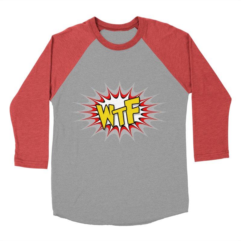 WTF (comic style) Men's Baseball Triblend Longsleeve T-Shirt by John Lucke Designs