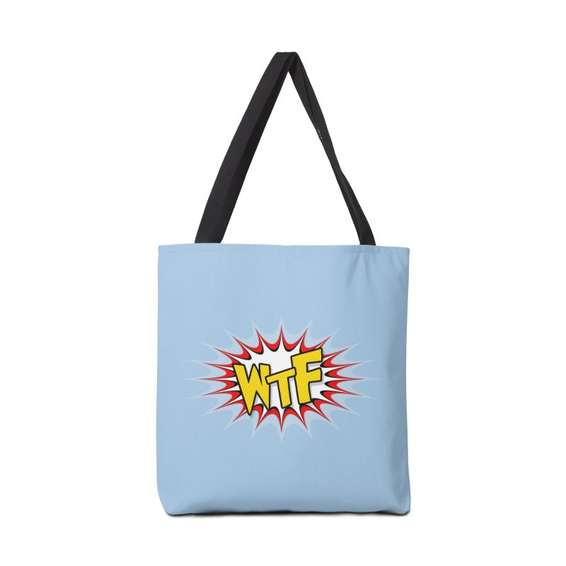 WTF (comic style) Accessories Bag by John Lucke Designs