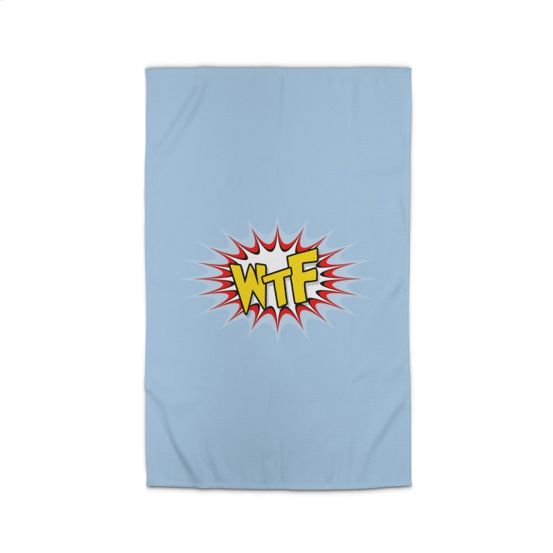 WTF (comic style) Home Rug by John Lucke Designs