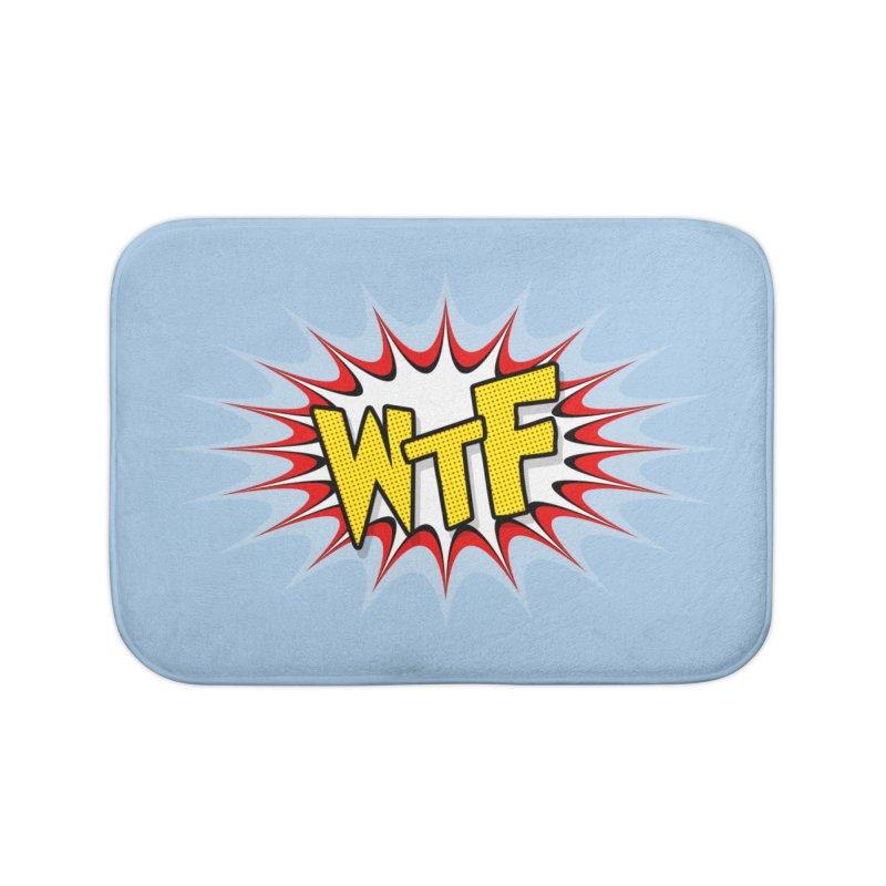 WTF (comic style) Home Bath Mat by John Lucke Designs