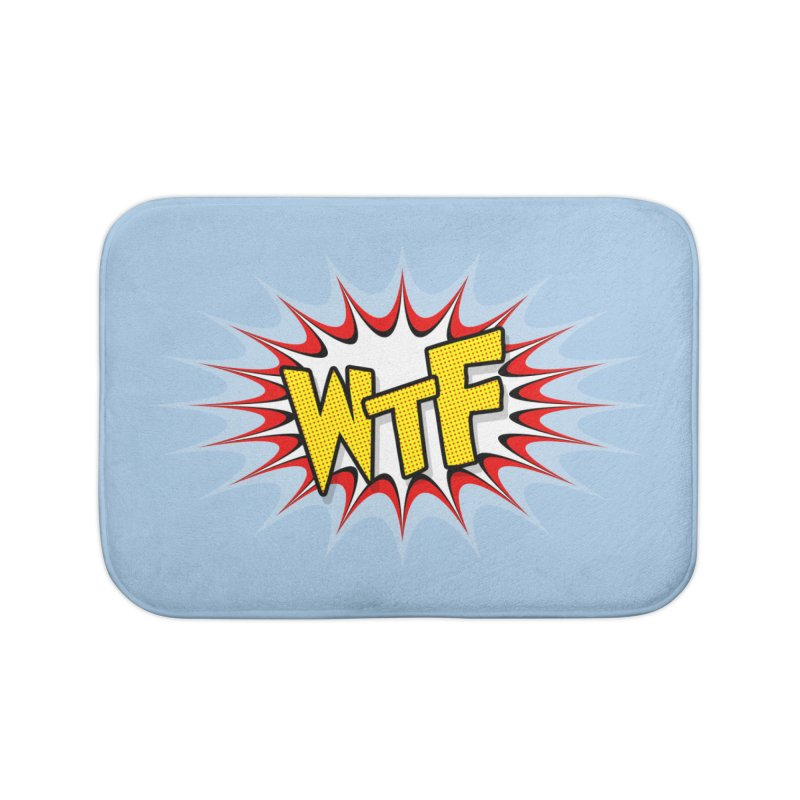 WTF (comic style) Home Bath Mat by John Lucke Designs