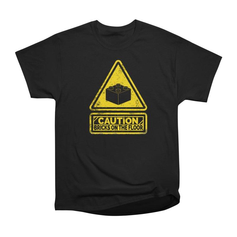 Watch Your Steps Women's Heavyweight Unisex T-Shirt by John Lucke Designs