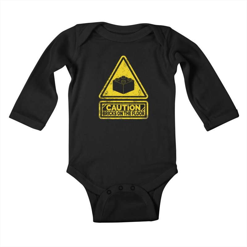 Watch Your Steps Kids Baby Longsleeve Bodysuit by John Lucke Designs