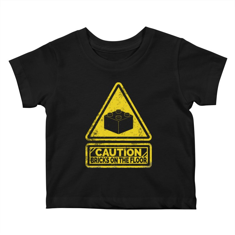 Watch Your Steps Kids Baby T-Shirt by John Lucke Designs