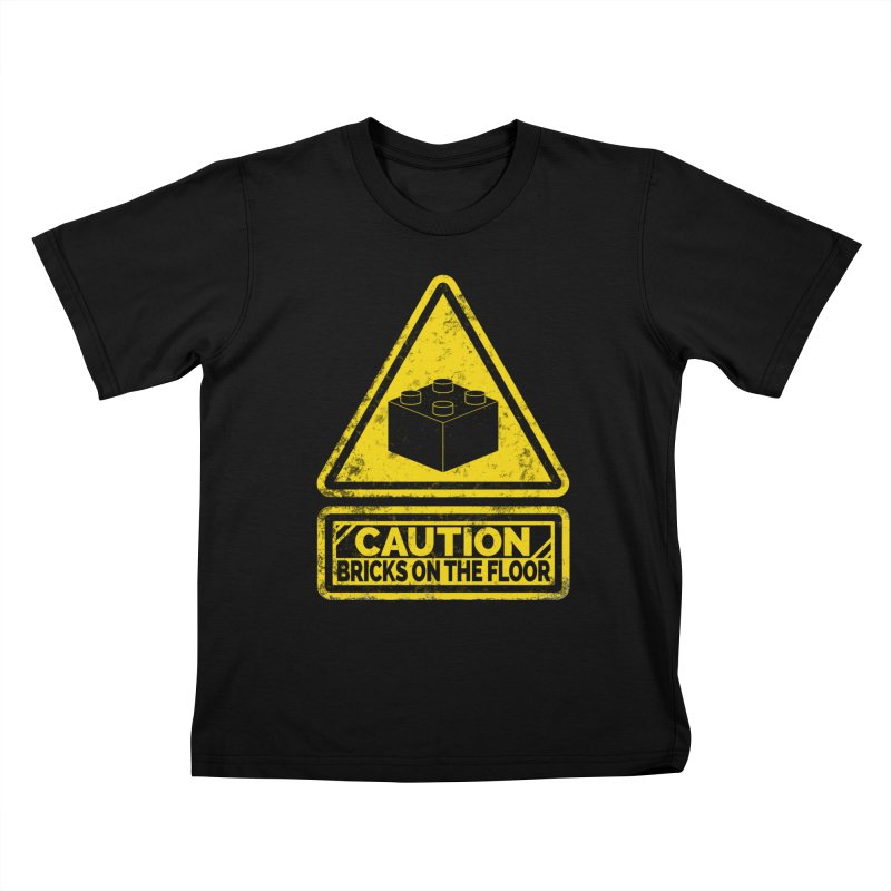 Watch Your Steps Kids T-Shirt by John Lucke Designs
