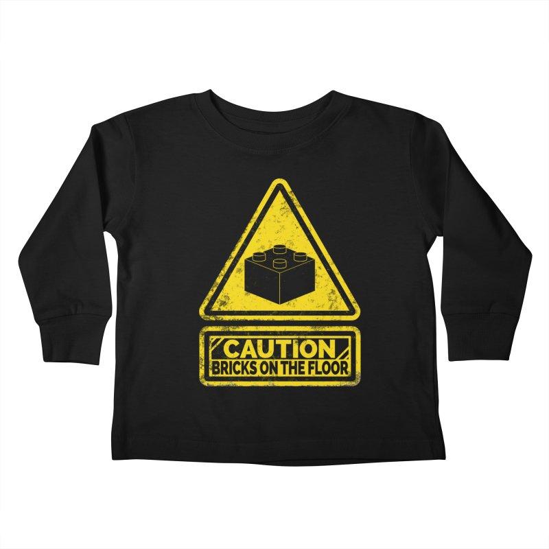 Watch Your Steps Kids Toddler Longsleeve T-Shirt by John Lucke Designs