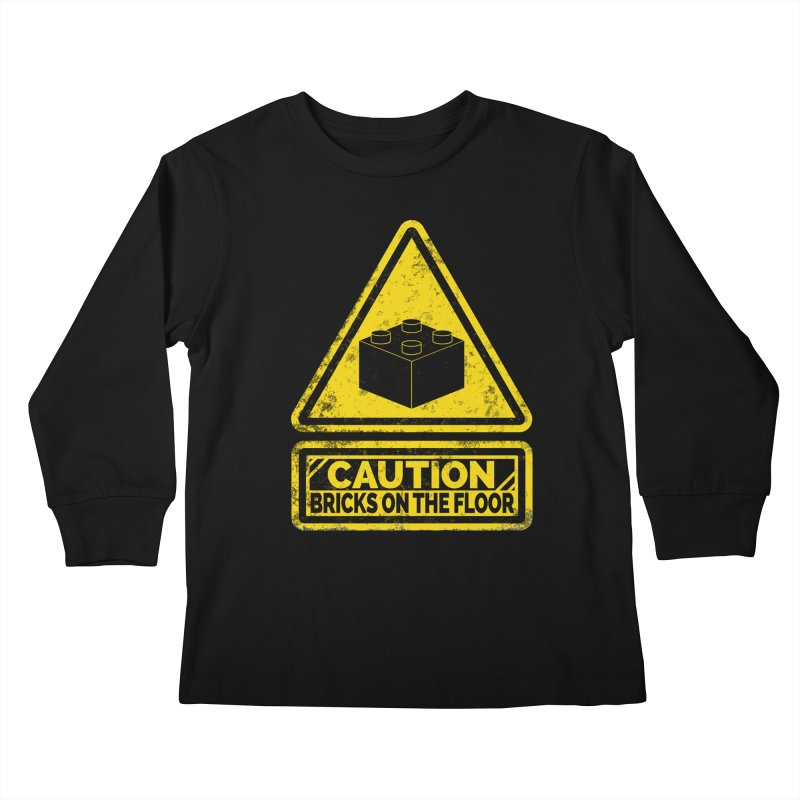 Watch Your Steps Kids Longsleeve T-Shirt by John Lucke Designs
