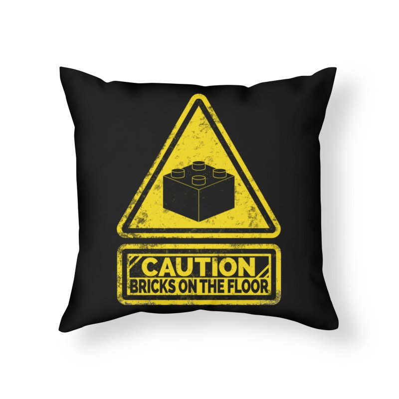 Watch Your Steps Home Throw Pillow by John Lucke Designs