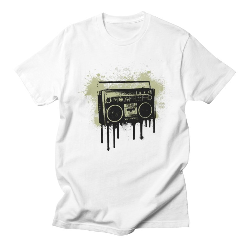 Portable Stereo Splatter Men's T-shirt by John Lucke Designs