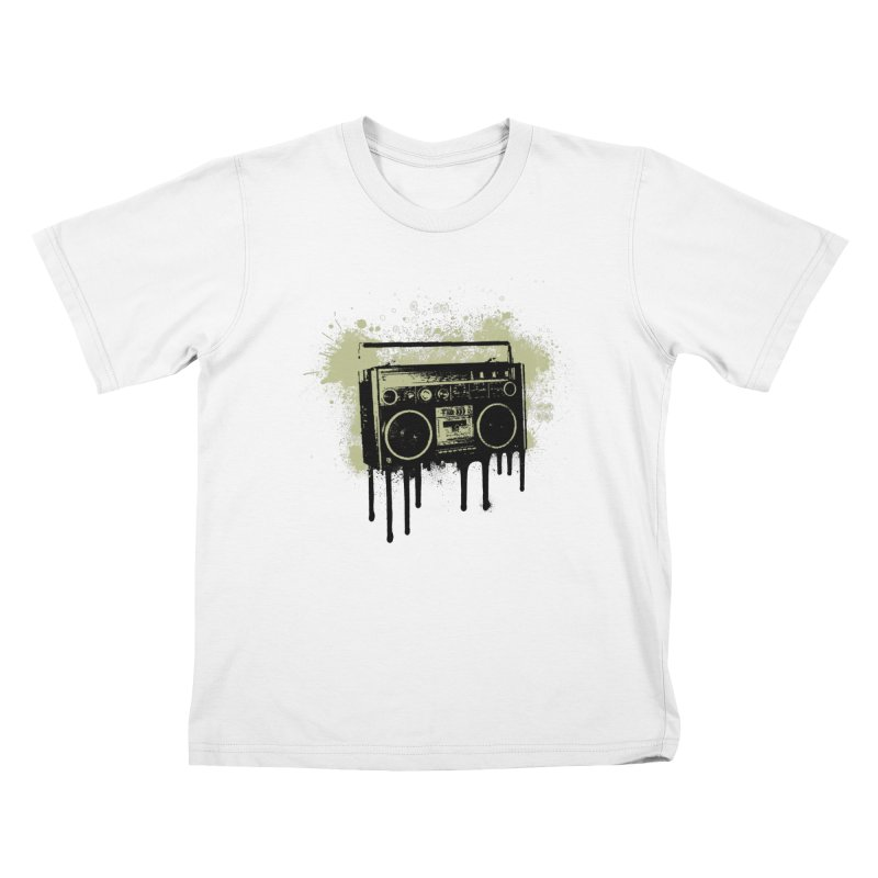 Portable Stereo Splatter Kids T-Shirt by John Lucke Designs