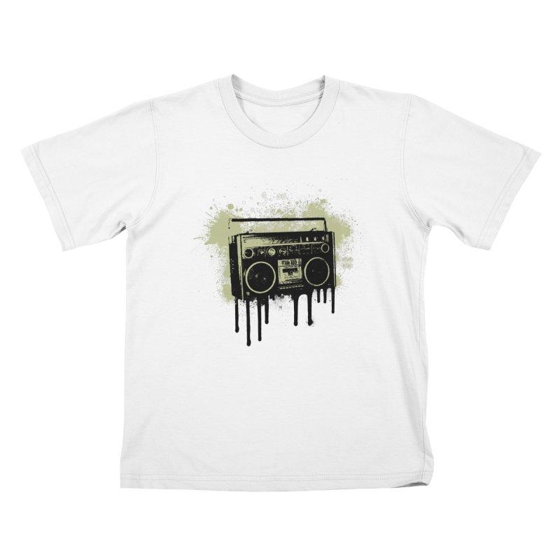 Portable Stereo Splatter Kids T-shirt by John Lucke Designs