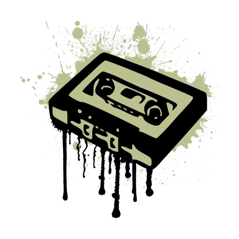 Cassette Splatter by John Lucke Designs