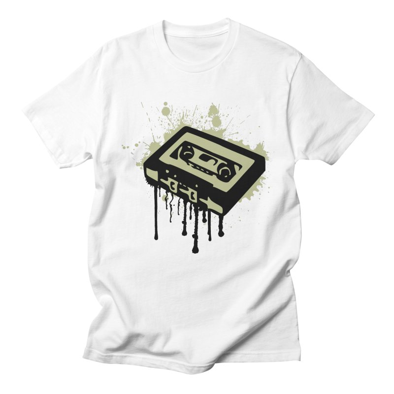 Cassette Splatter Men's T-shirt by John Lucke Designs