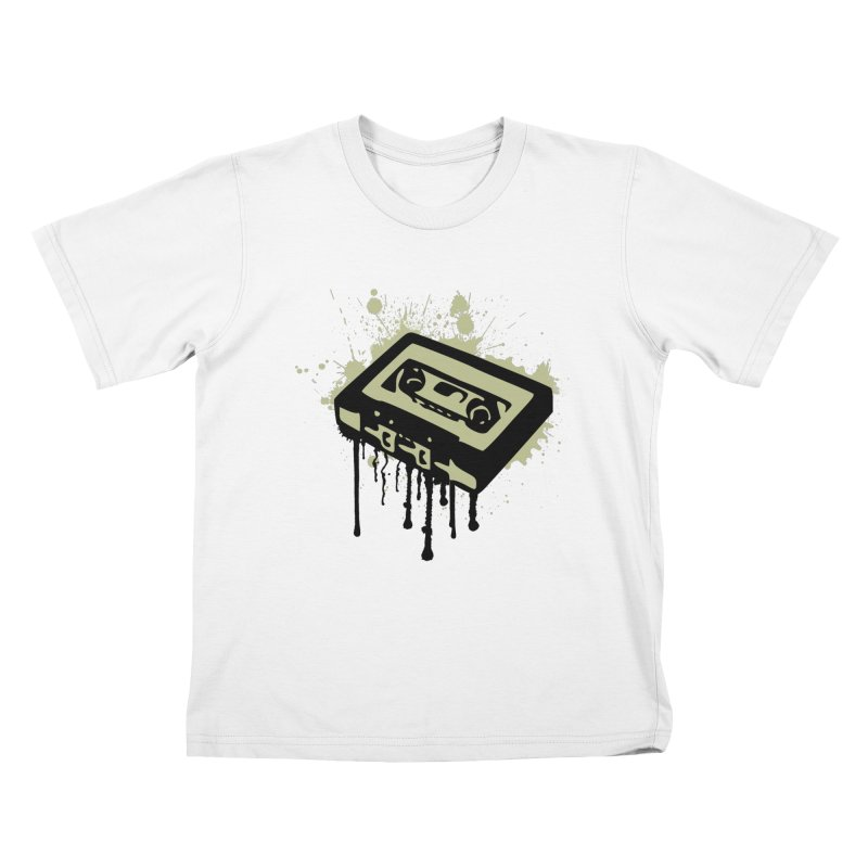 Cassette Splatter Kids T-Shirt by John Lucke Designs