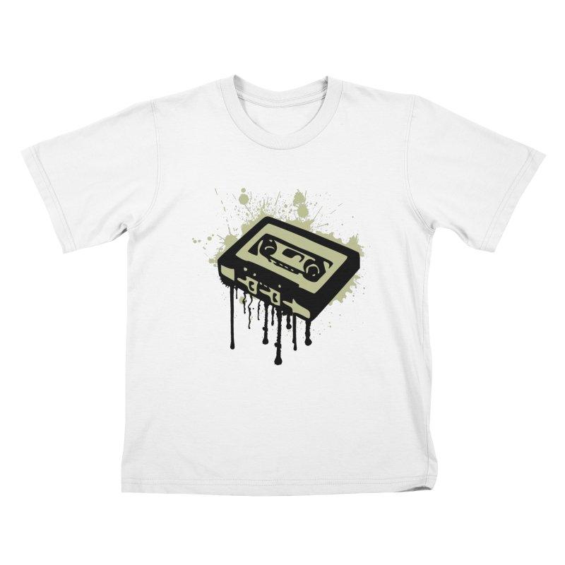 Cassette Splatter Kids T-shirt by John Lucke Designs