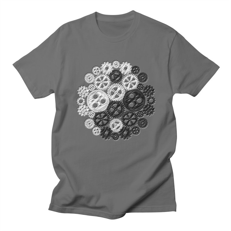 Gears Yin/Yang Men's T-shirt by John Lucke Designs
