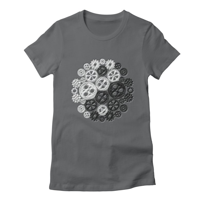 Gears Yin/Yang Women's Fitted T-Shirt by John Lucke Designs