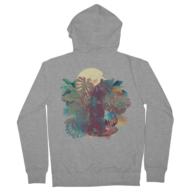 Panther Square Women's Zip-Up Hoody by ludovicjacqz's Artist Shop