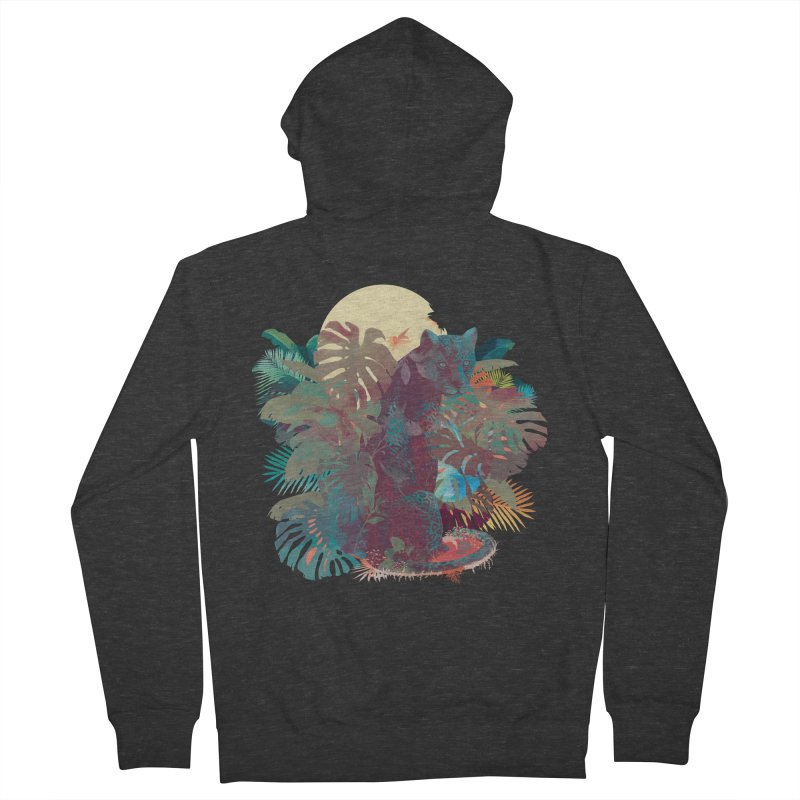 Panther Square Men's Zip-Up Hoody by ludovicjacqz's Artist Shop