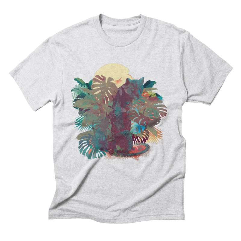 Panther Square Men's Triblend T-Shirt by ludovicjacqz's Artist Shop