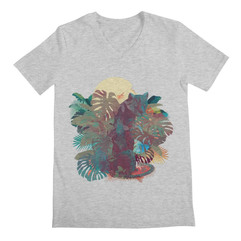 Panther Square Men's V-Neck by ludovicjacqz's Artist Shop