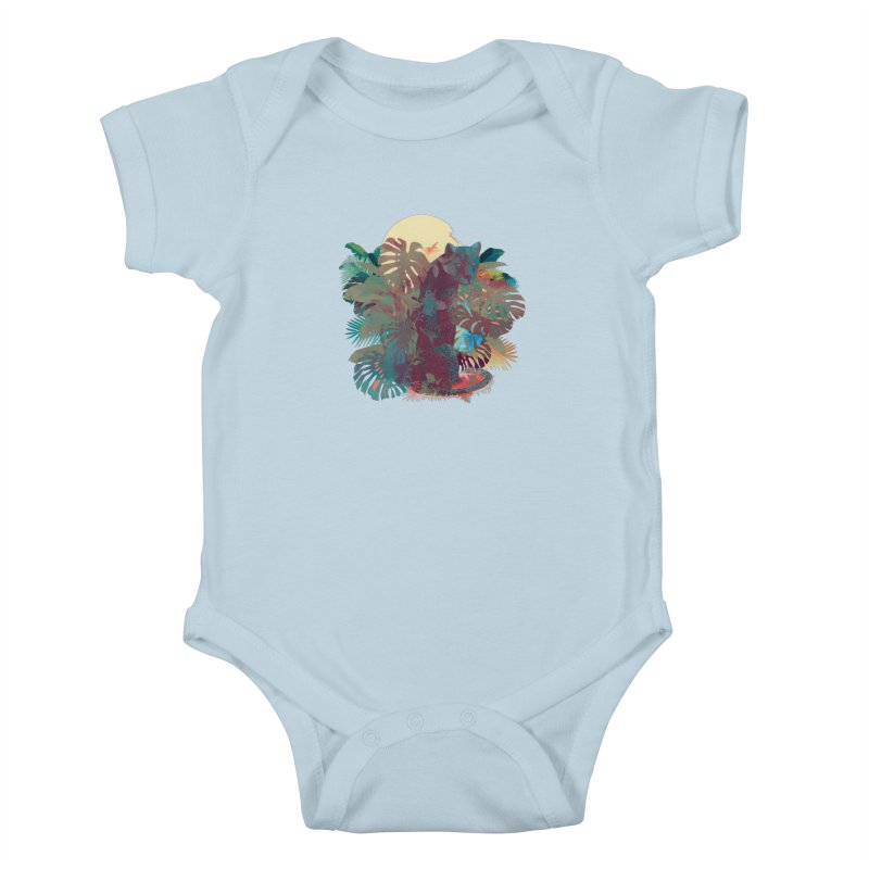 Panther Square Kids Baby Bodysuit by ludovicjacqz's Artist Shop