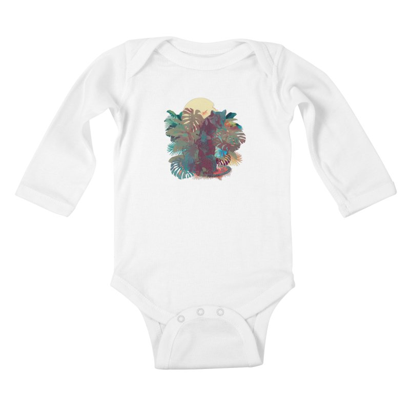 Panther Square Kids Baby Longsleeve Bodysuit by ludovicjacqz's Artist Shop
