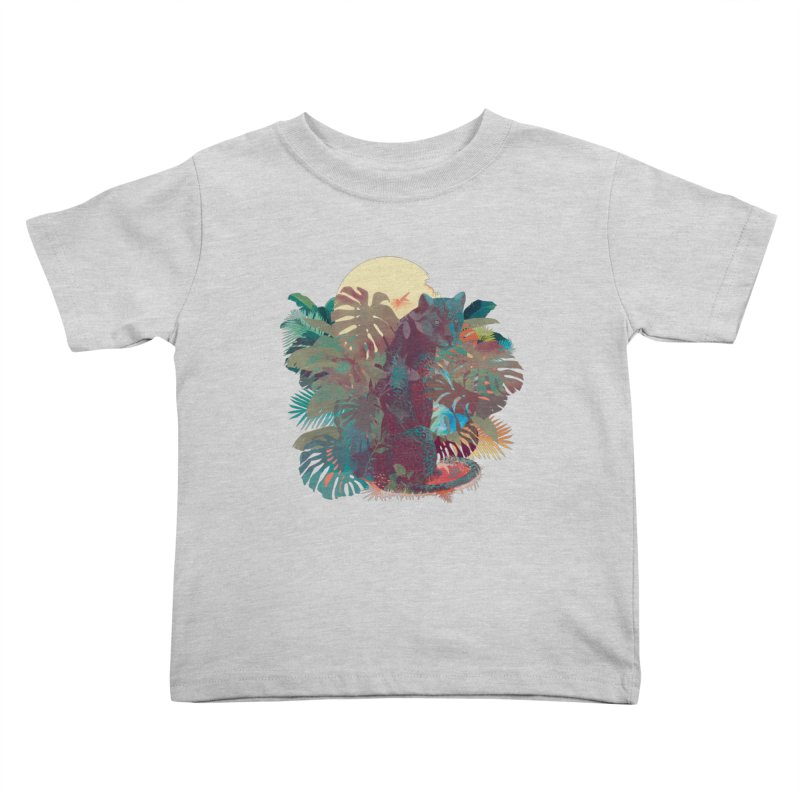 Panther Square Kids Toddler T-Shirt by ludovicjacqz's Artist Shop