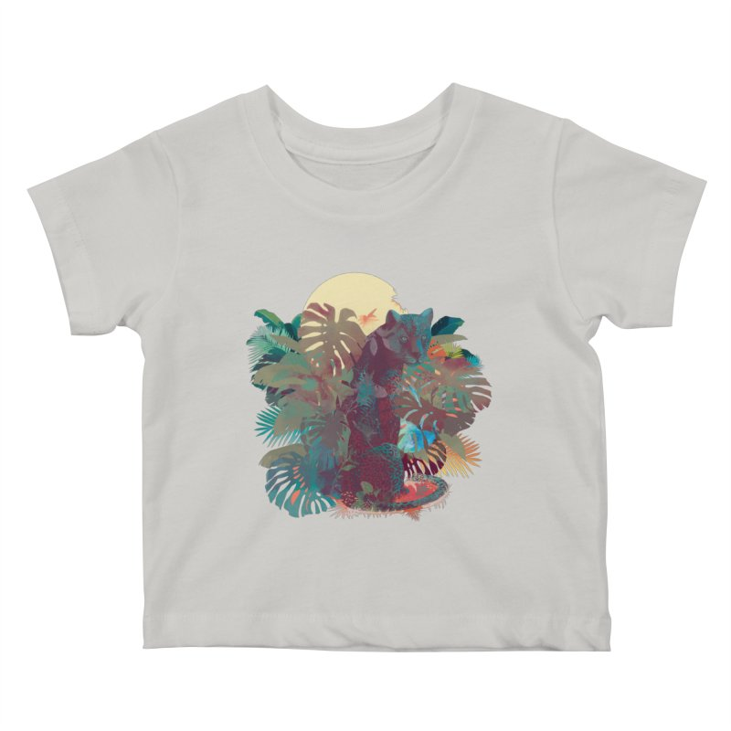 Panther Square Kids Baby T-Shirt by ludovicjacqz's Artist Shop