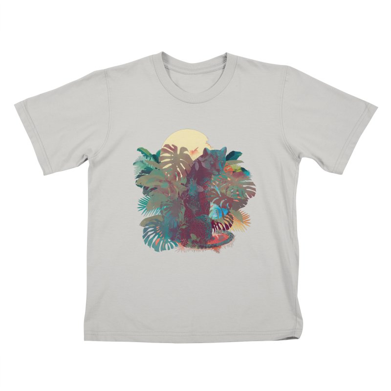Panther Square Kids T-shirt by ludovicjacqz's Artist Shop