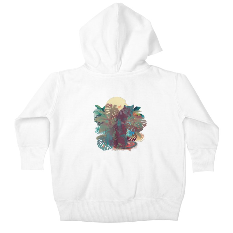 Panther Square Kids Baby Zip-Up Hoody by ludovicjacqz's Artist Shop