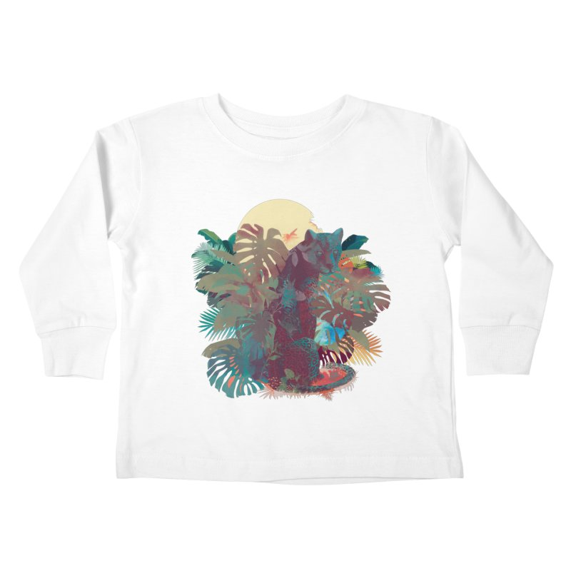 Panther Square Kids Toddler Longsleeve T-Shirt by ludovicjacqz's Artist Shop