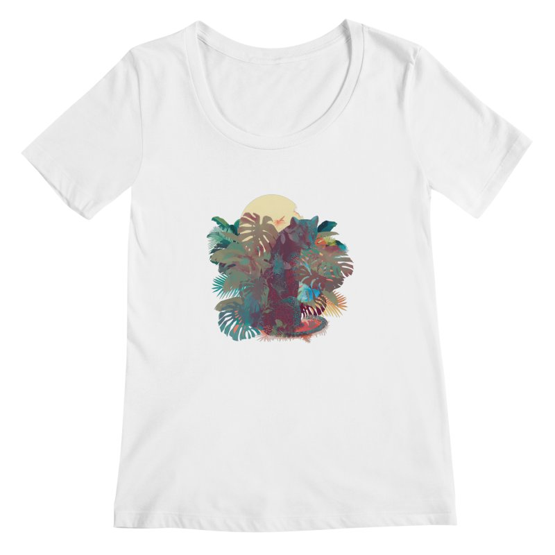 Panther Square Women's Scoopneck by ludovicjacqz's Artist Shop