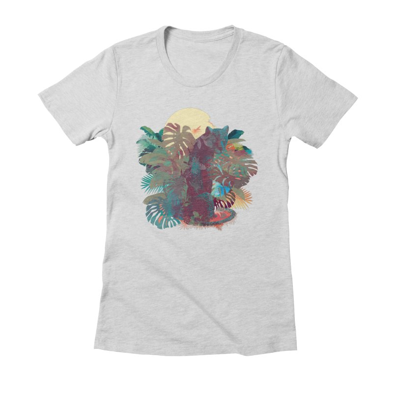 Panther Square Women's Fitted T-Shirt by ludovicjacqz's Artist Shop