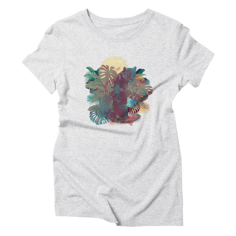 Panther Square Women's Triblend T-shirt by ludovicjacqz's Artist Shop