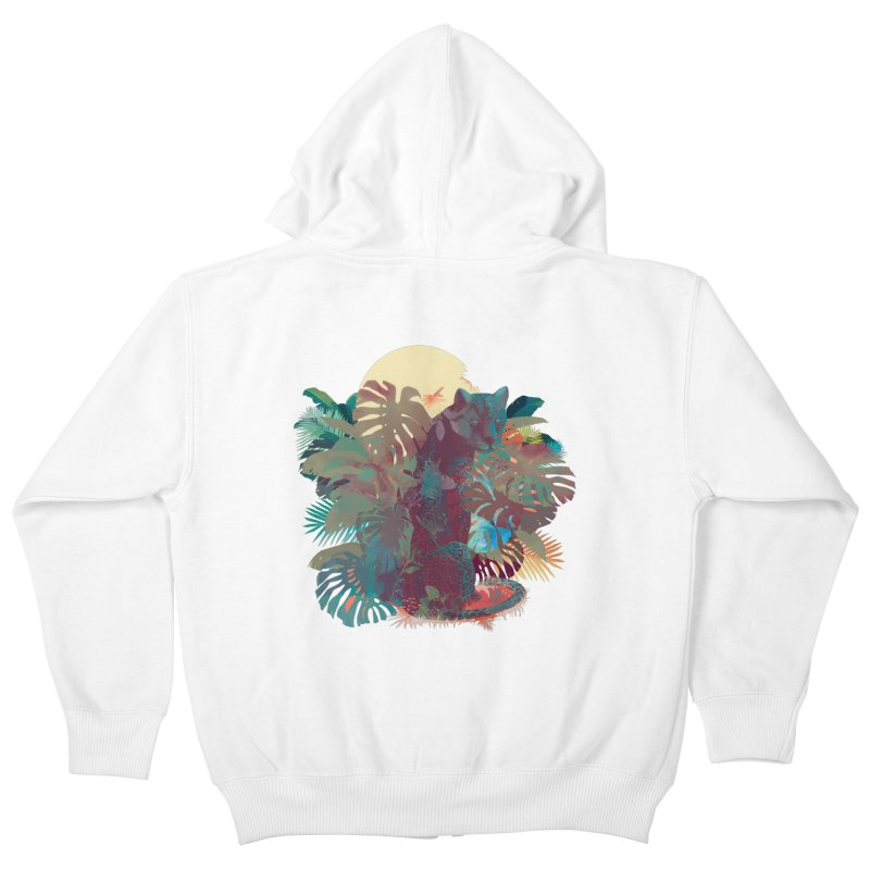 Panther Square Kids Zip-Up Hoody by ludovicjacqz's Artist Shop