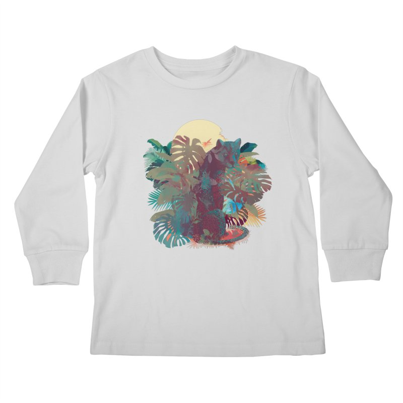 Panther Square Kids Longsleeve T-Shirt by ludovicjacqz's Artist Shop