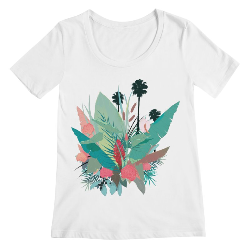 Palm Spings Women's Scoopneck by ludovicjacqz's Artist Shop