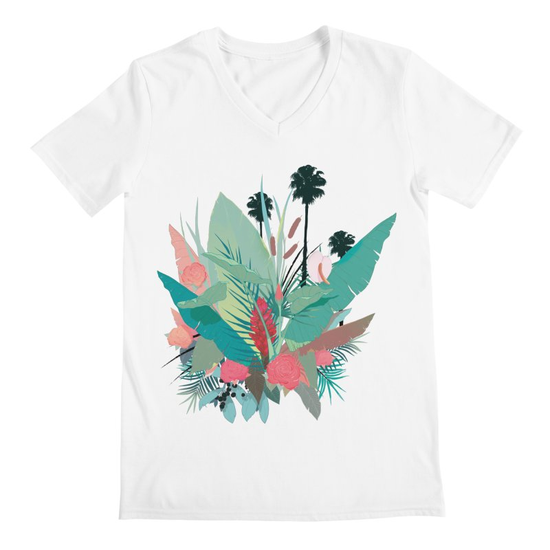 Palm Spings Men's V-Neck by ludovicjacqz's Artist Shop