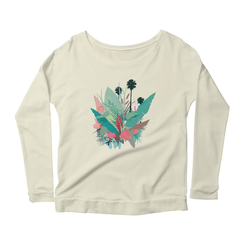 Palm Spings Women's Longsleeve Scoopneck  by ludovicjacqz's Artist Shop