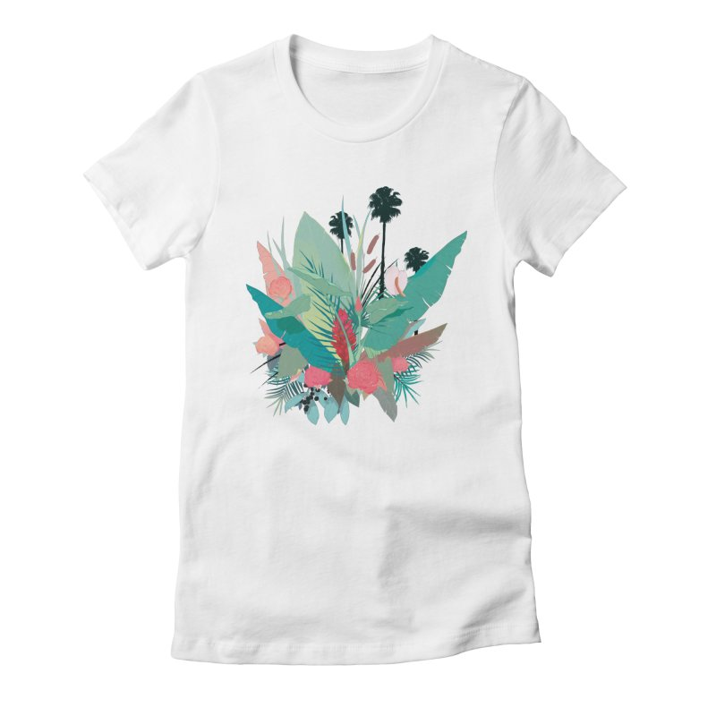 Palm Spings Women's Fitted T-Shirt by ludovicjacqz's Artist Shop