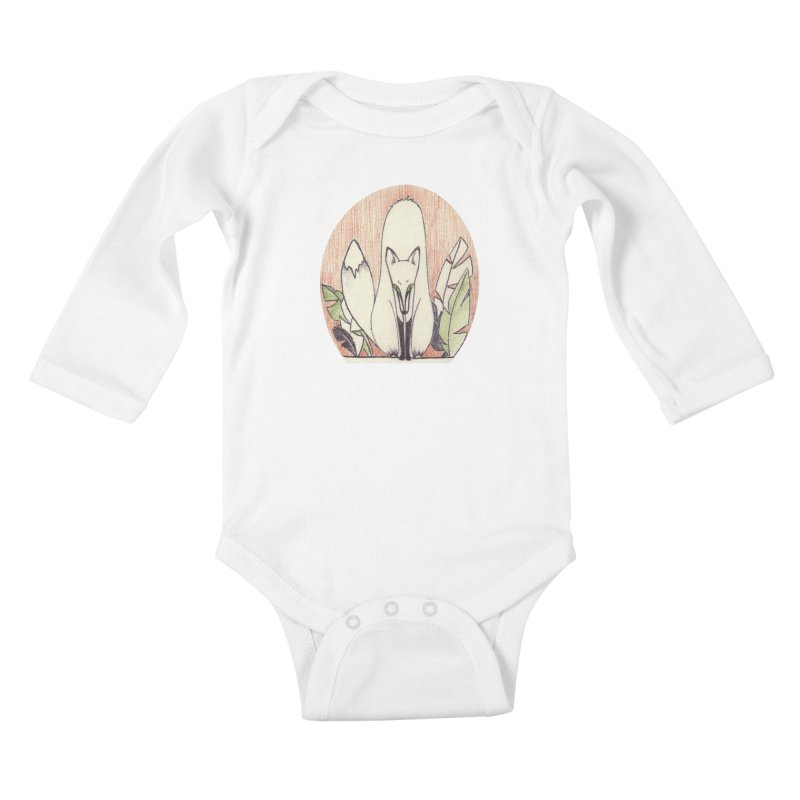 FoxFront (by Luisa) in Kids Baby Longsleeve Bodysuit White by LUFANA art