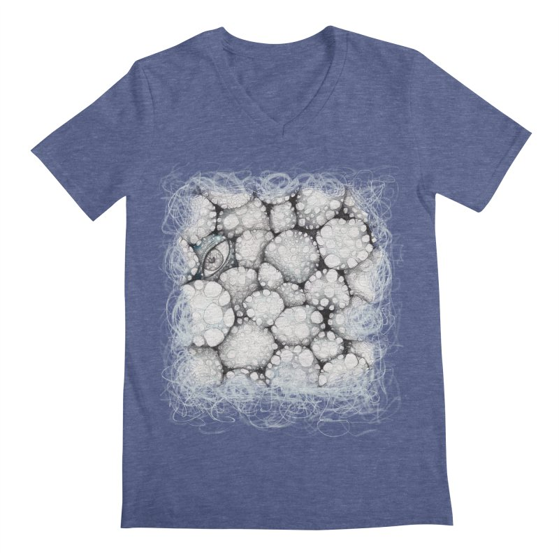 Windows (by Ana) in Men's Regular V-Neck Heather Blue by LUFANA art