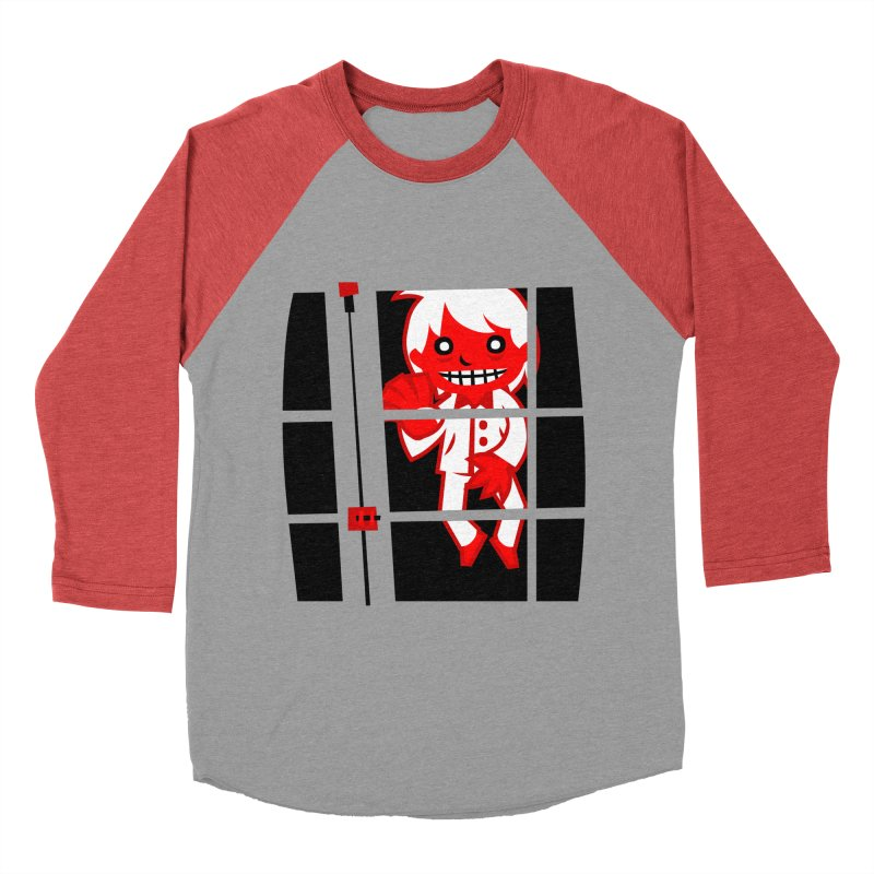 Let me in. Men's Baseball Triblend T-Shirt by luisd's Artist Shop